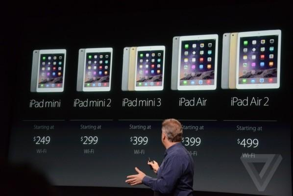 Планшетники Apple iPad Air 2 и iPad mini 3