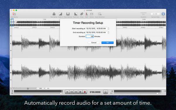 редактор аудио на Mac OS